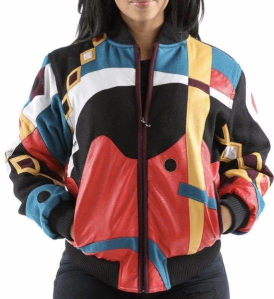 Women's Pelle Pelle Abstract Varsity Jacket