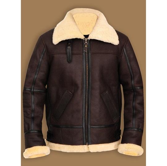 Men's B3 Bomber Aviator Shearling Leather Jacket