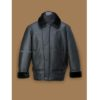 Men's Black Aircraft Shearling Leather Jacket