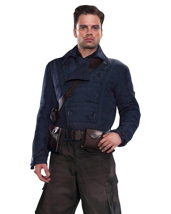 Bucky Barnes WW2 Blue Jacket