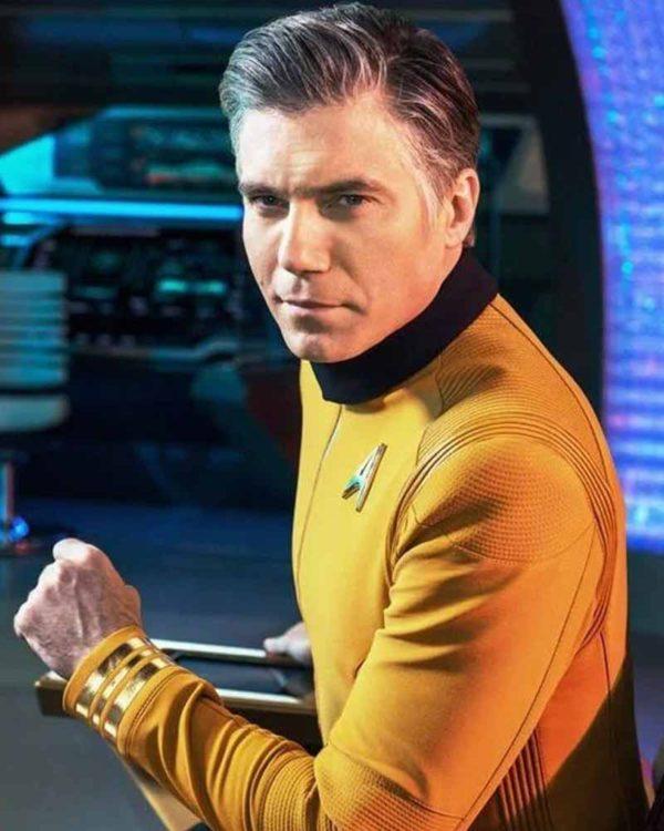Star Trek Season 4 Captain Christopher Pike Yellow Jacket