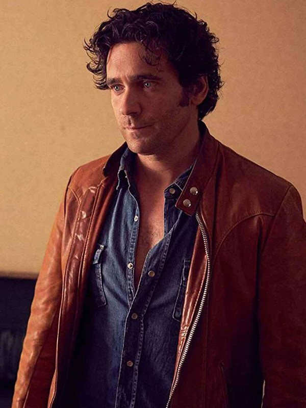 Caught Allan Hawco Brown Leather Jackets