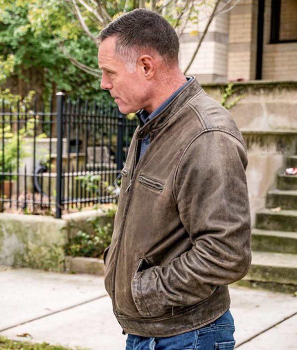 Chicago P.D. Jason Beghe Season 07 Brown Hank Voight Leather Jacket