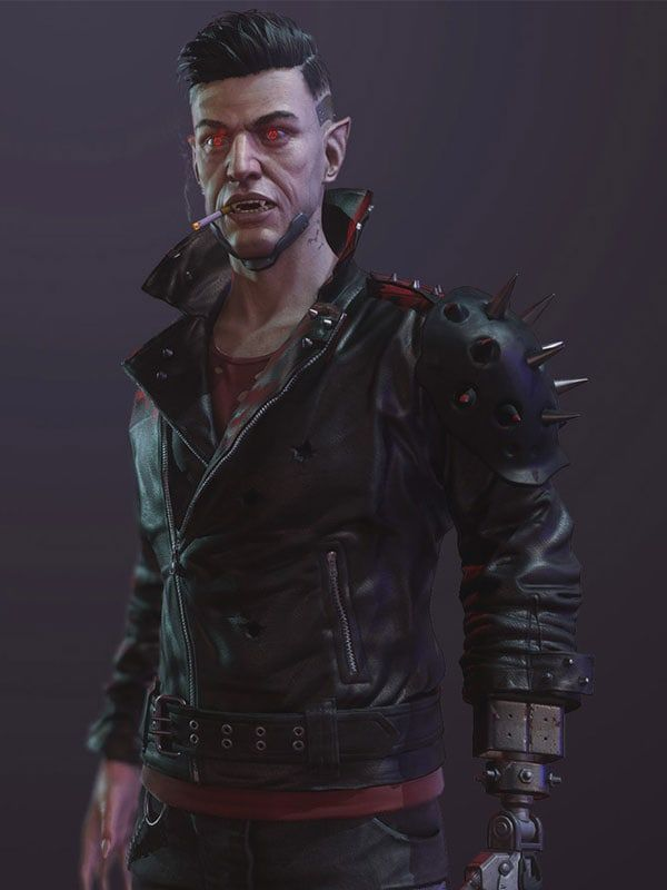 Cyberpunk 2077 Dracula Leather Jacket