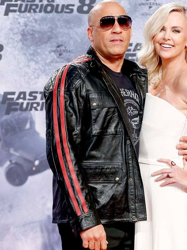 Vin Diesel Fast and Furious 9 Black Leather Jacket