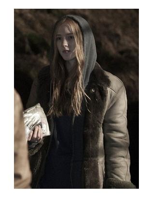 Dark Franziska Doppler Shearling Leather Jacket