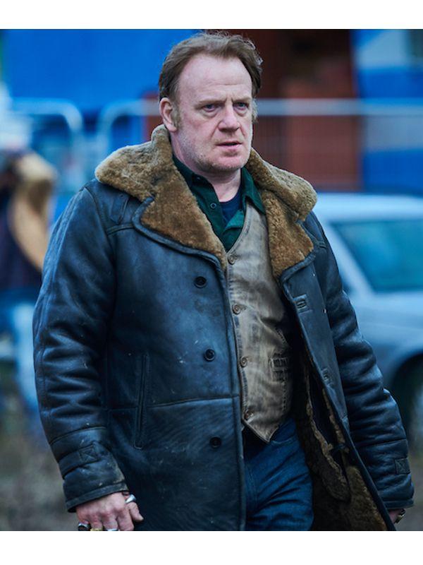 Gangs of London Kinney Edwards Leather Shearling Coats