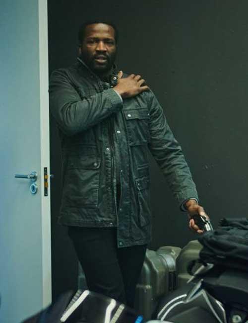 Gangs of London Elliot Finch Sope Dirisu Black Leather Jacket