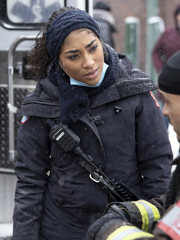 Gianna Mackey TV Series Chicago Fire S09 Episode 7 Adriyan Rae Black Coat