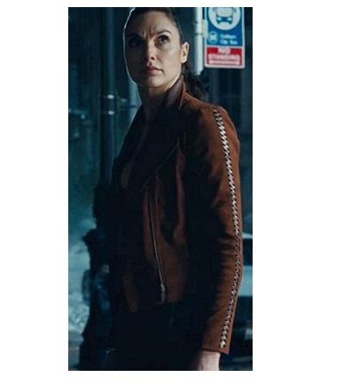 Justice League Wonder Woman Suede Leather Jacket