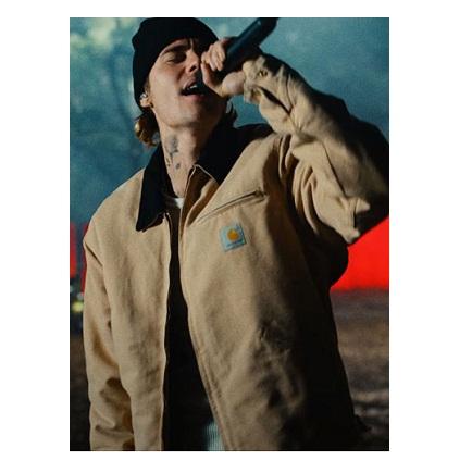 Justin Bieber Anyone Brown Jacket
