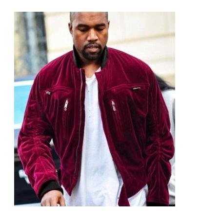 Kanye West Red Velvet Jacket