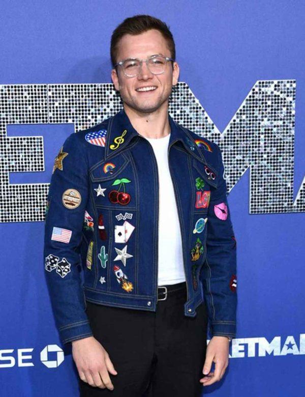 Rocketman Taron Egerton Denim Jacket