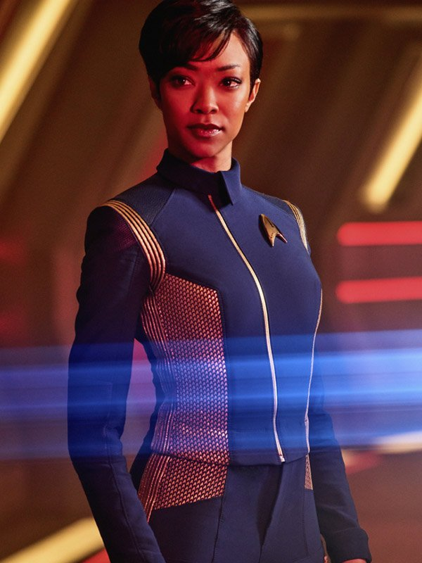 Star Trek Discovery Blue Leather Jacket