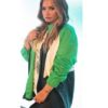 Demi Lovato Dancing with the Devil Green Jacket