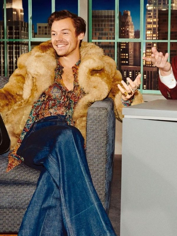 Harry Styles The Beloved Show Fur Coat