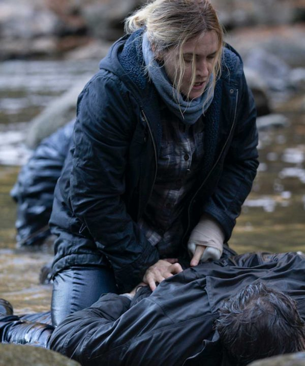 Kate Winslet TV Series Mare of Easttown Mare Sheehan Blue Hooded Jacket