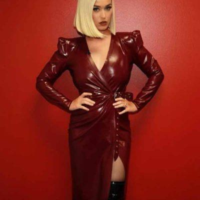 Katy Perry Maroon Coat