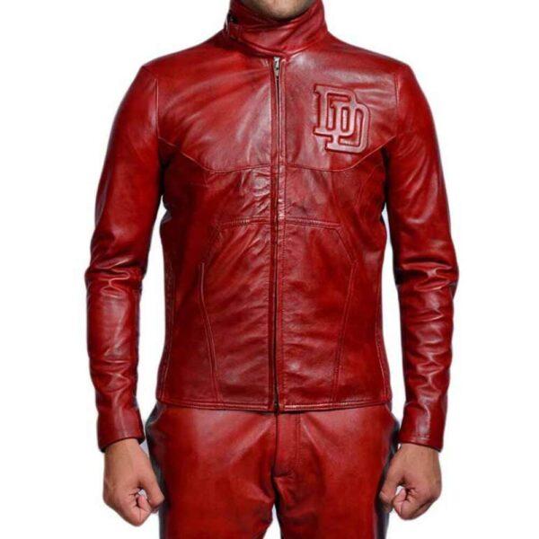 Daredevil Ben Affleck Red Leather Jacket
