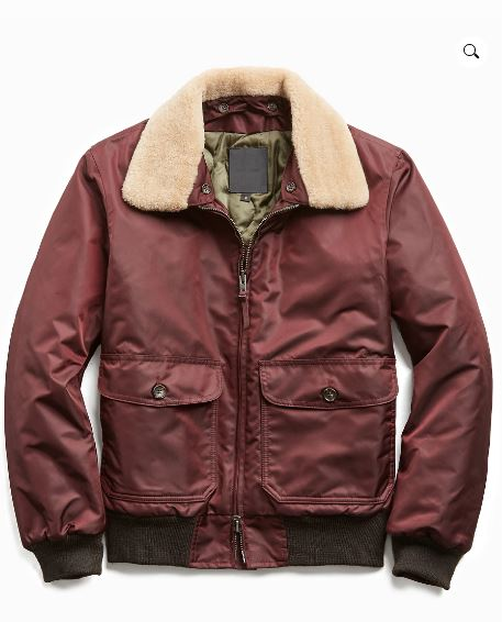 Men todd snyder golden bear shearling collar jacket.