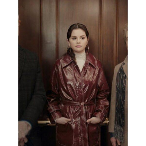Only Murders In The Building Selena Gomez Brown Coat