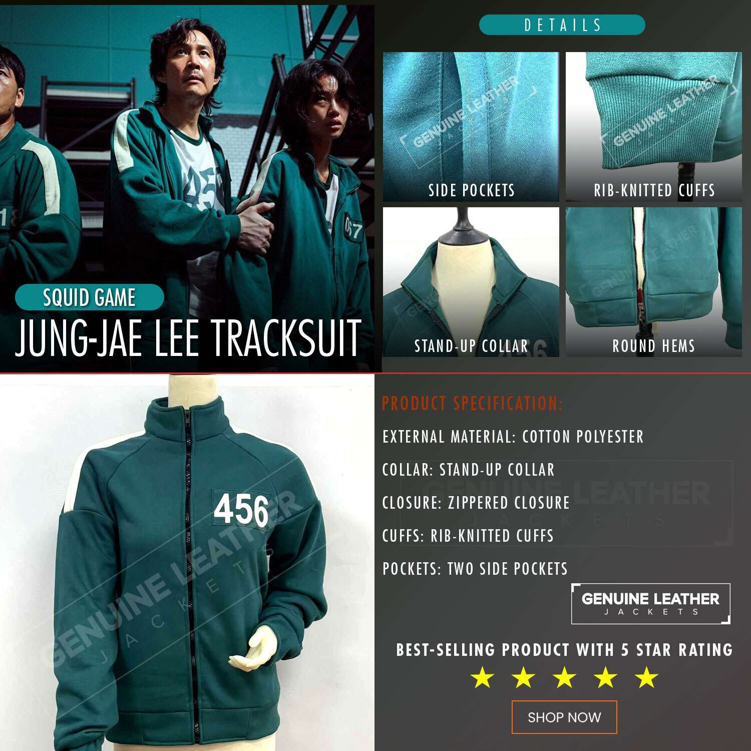 Squid Game Green Jacket 456