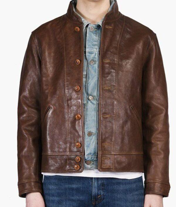 Albert Einstein Vintage Leather Jacket