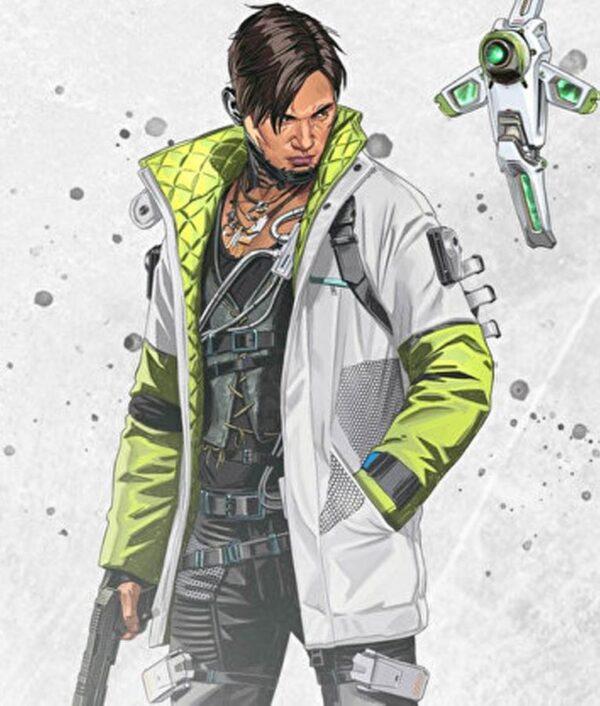 Apex Legends Crypto White Leather Jacket
