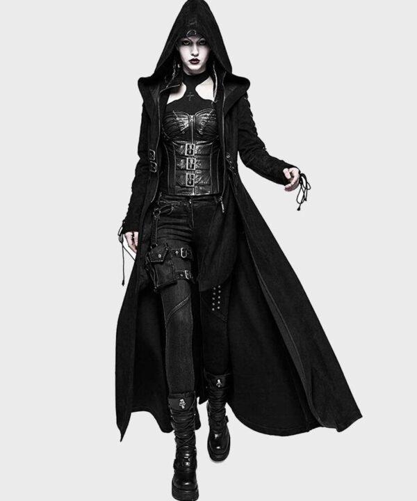 Gothic Dark Angel Trench Coat