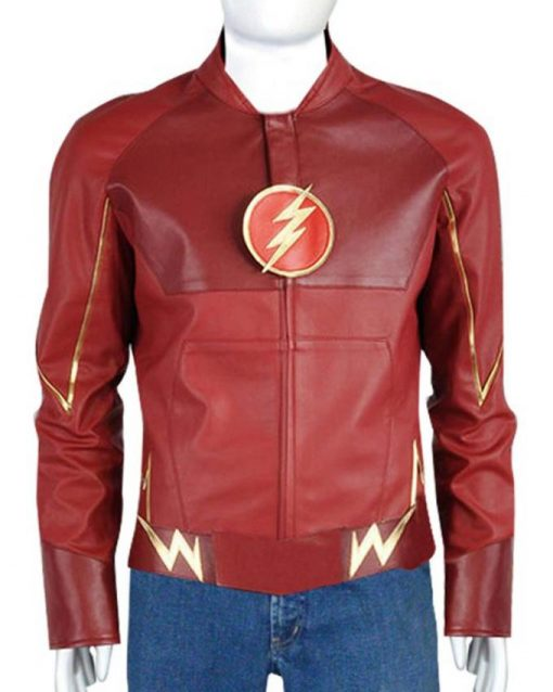 Grant Gustin Flash Barry Allen Leather Jacket