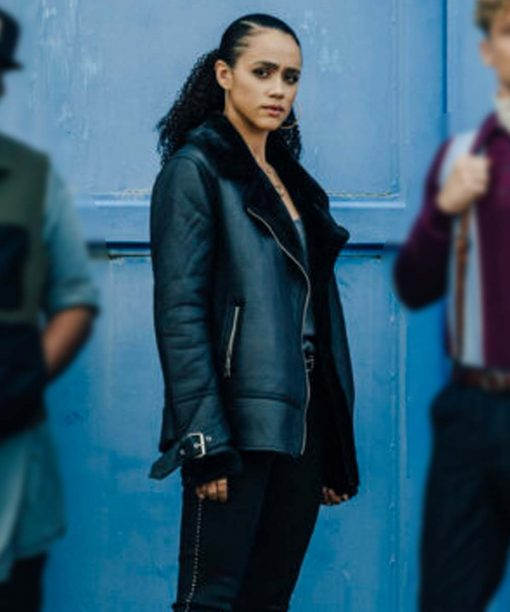 Gwendoline Army of Thieves Black Leather Jacket
