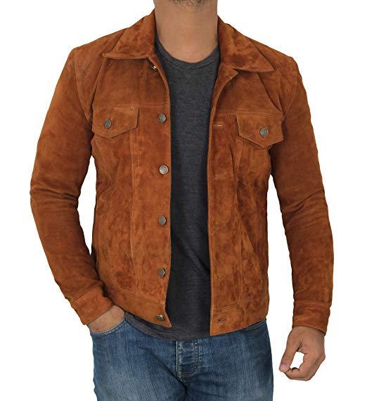 Logan Leather Trucker Jacket