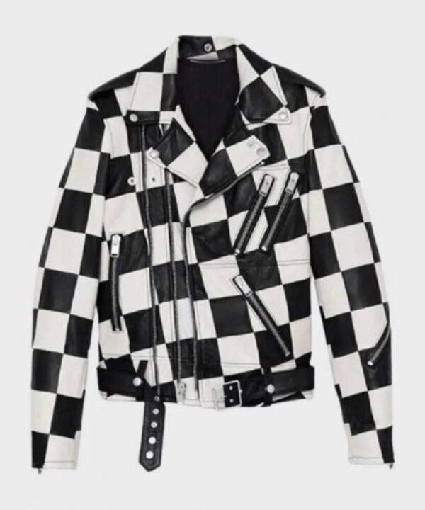Paris Buckingham Bold and the Beautiful Leather Jacket