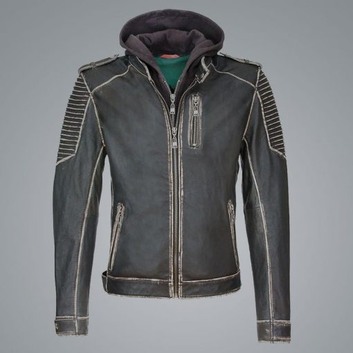 Suicide Squad The Killing Joker Distressed Leather Jacket