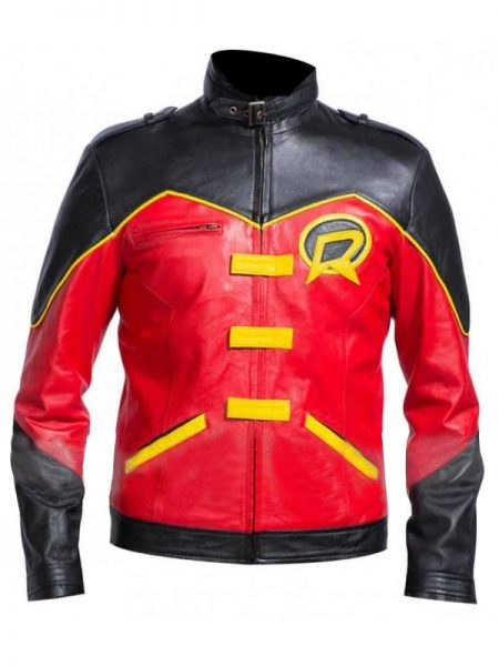 Tim Drake Batman Red Robin Leather Jacket