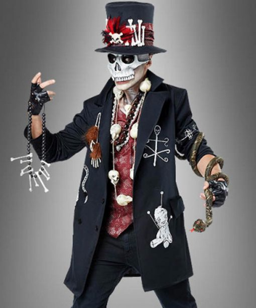 Voodoo Priest Black Cotton Coat